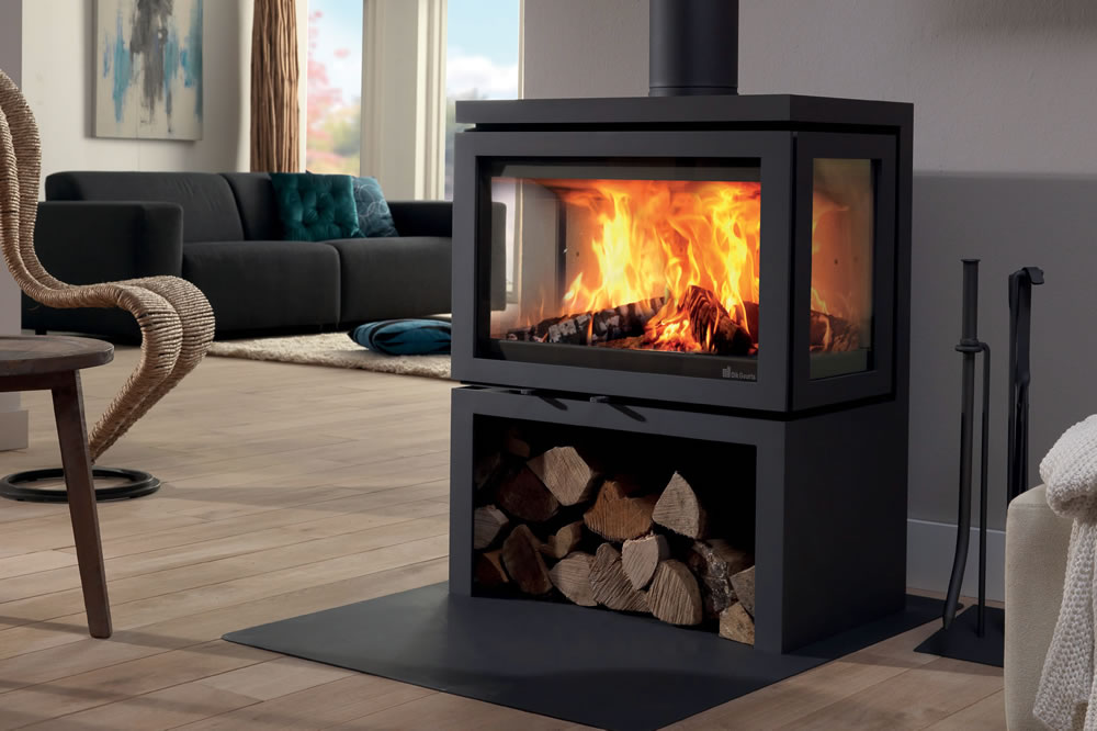 installation po le bois suspendu valbonne cheminee. Black Bedroom Furniture Sets. Home Design Ideas