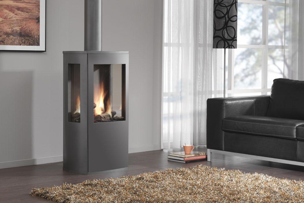 po le gaz trio cheminee. Black Bedroom Furniture Sets. Home Design Ideas