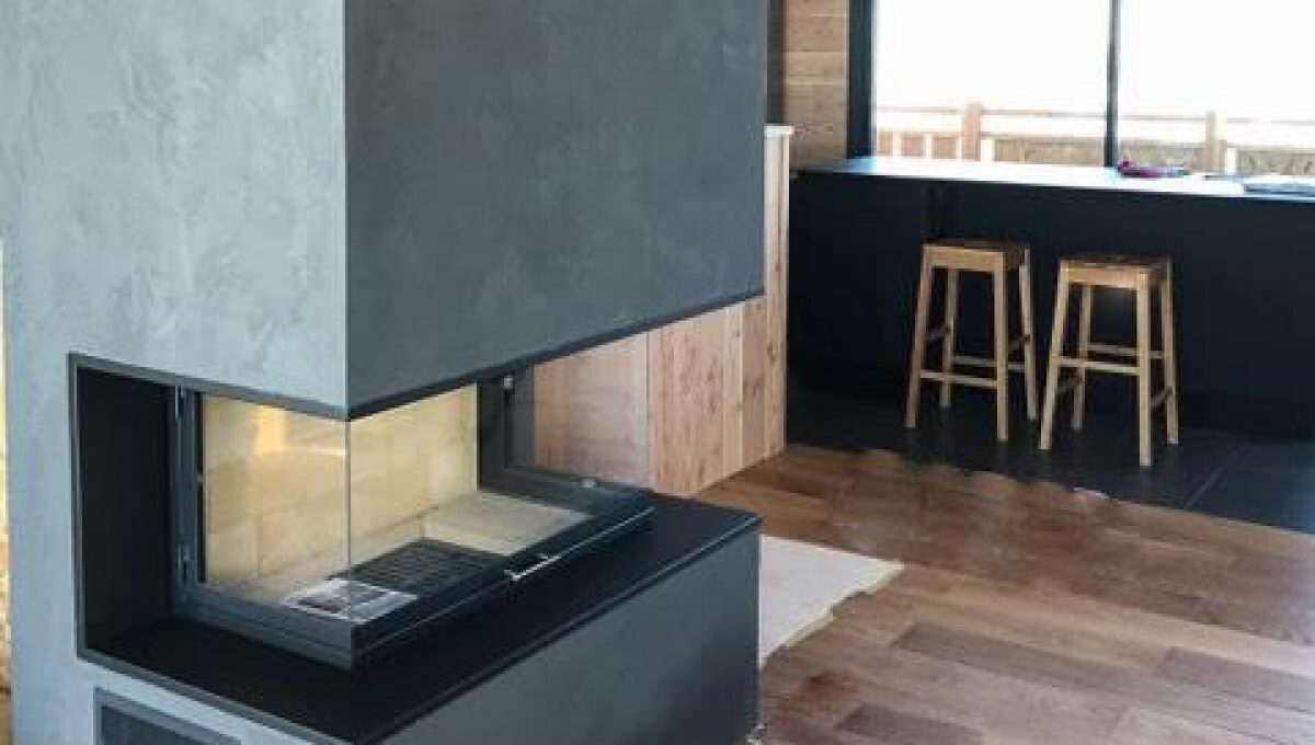 Installation d'une cheminée 3 faces à Auron