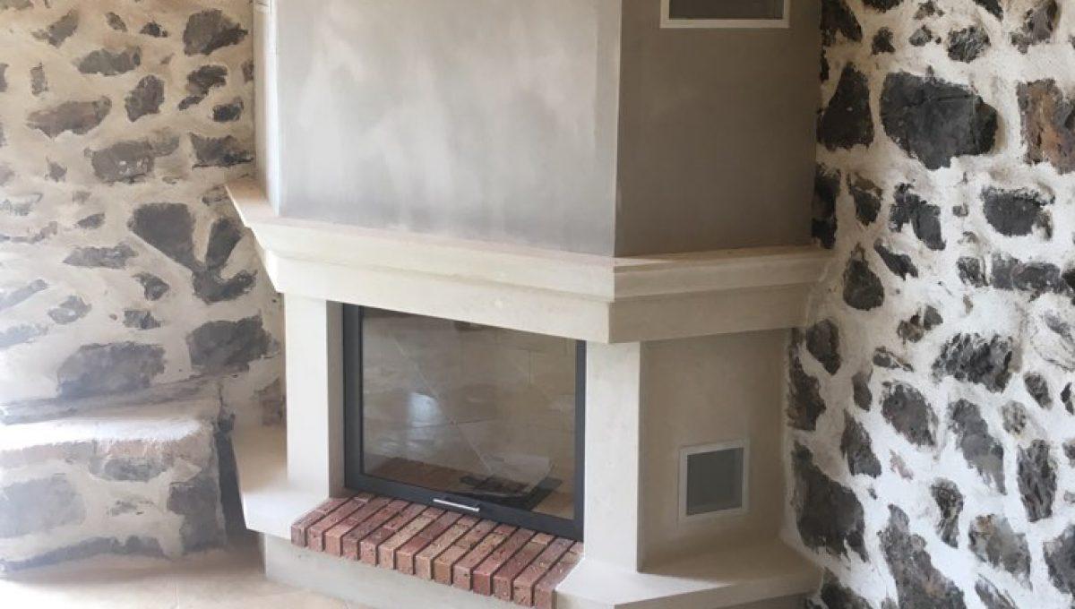 Installation d'une cheminée classique